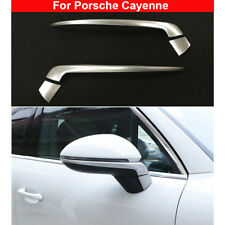 2Pcs Chrome Rear view Side Mirror Decorate Trim For Porsche Cayenne 2018-2019