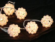 White Crystal Ball Bead LED Battery fairy light Wedding Table centrepiece decor