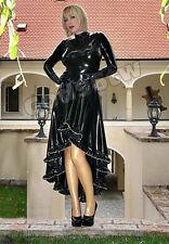 100% Latex Rubber Gummi Gothic Long Dress Skirt Catsuit Suit Party Wear Unique