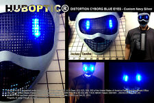 DJ Mask Navy Gray Silver LED Light Up Mask - Robot Mask for Gigs Cosplay Costume