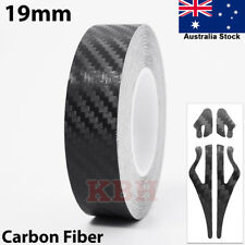 "19mm x 9.8m Self Adhesive Pin Stripe Tape Vinyl Sticker 3/4"" Carbon Fiber Black"