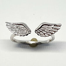 Sterling silver wing shape, high polished ring, 1.5 gram, size 6