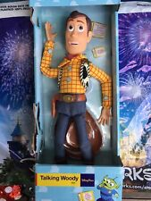 "Disney Parks Toy Story Talking Sheriff Woody Pull String 16"" Toy Doll Figure New"