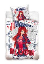 Winx Club Bloom Parure 100 coton Housse de couette 140x200 Taie 70x80
