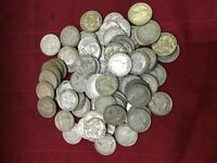 Australia Sixpences 1946 - 1963 100 grams, about 35 coins, mixed dates unpicked
