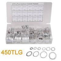 450x Aluminium Dichtring Sortiment Set ALU Dichtungen Öl Kupferringe Aluscheiben