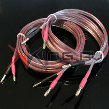 PAIR 2 X 2M OFC 2.5mm Speaker Cable. Oxygen Free Terminated 4mm 24k Banana Plugs