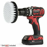 White Electric Drill Brush Attachment for Cleaning Carpet Leather Ppholstery Set