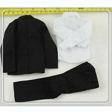 """1/6 Scale Men's Black Suits For 12"""" Male Hot Toys Figure Body"""