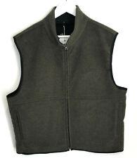 BNWT Holland & Holland Men's Fleece waistcoat Technical green wool gilet XXL NEW