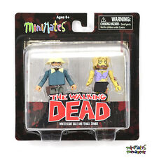 Walking Dead Minimates Series 1 Female Zombie & Winter Coat Dale Variant