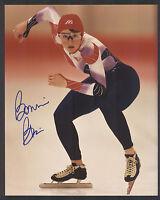 Bonnie Blair Olympic Speedskater Signed 8x10 Photo Won 5-Gold Medals