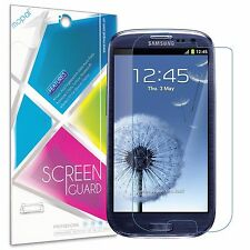 [6-Piece] Samsung Galaxy S3 Screen Protector HD Clear Anti-Scratch Cover Guard