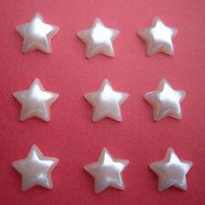 80x10mm Flatback Ivory Pearl Stars  Wedding Cards/ Scrapbooking