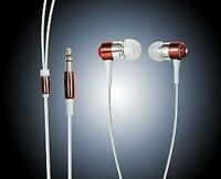 EARPHONES EARBUDS FOR iPOD MP3 MP4 IN RED **NEW**