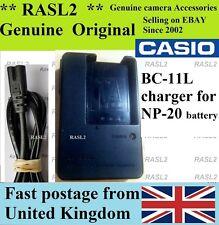 Genuine CASIO Charger BC-11L pour Batterie NP-20 Exilim EX-Z77 Z75 Z70 Z65 S770