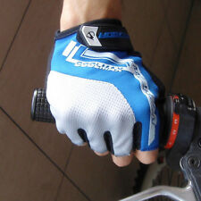 New Cycling Bike Bicycle Ultra-breathable Shockproof Half Finger Glove Blue