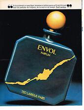 PUBLICITE ADVERTISING 044  1981  ENVOL  parfum TED LAPIDUS