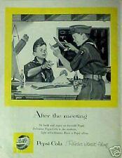 1956 Pepsi-Cola Soda-Pop Boy Scouts Bottle Cap Art AD