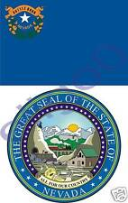 NEVADA State Flag + SEAL 2 bumper stickers decals USA