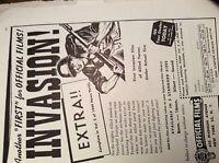 r7 ephemera 1944 ww2 film advert invasion extra official films