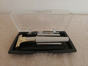 Vintage Schick Injector Gold Safety Razor/Case/Injector Blades/Instructions NM!!