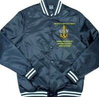 NAVAL AIR STATION SIGONELLA-ITALY *NAVY* EMBROIDERED 1-SIDED SATIN JACKET