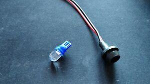 Sidelight / Pilot / Parking Light Bulb Holder  12 volt Blue LED - 12mm hole