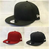 New Era Blank Plain 9Fifty Snapback Navy Black Red Hat Cap 950