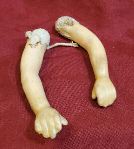Pair of Antique Composition Doll Arms