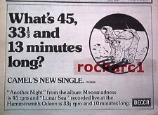 CAMEL Another Night 1976 UK Press ADVERT 12x8 inches