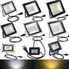 100W 50W 30W 20W 10W LED Flood Light Outdoor Garden Spot Lamp Waterproof US Plug