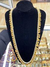 Indian/Pakistani Sari Belt+Necklace (Cream Pearls And White Stones)