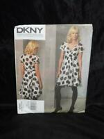 Vogue 1160 Size 14 16 18 20 DKNY Fit Flare Dress Sewing Pattern Uncut With Slip