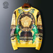 New Versace Men's Sport Hoodies Multicolour Print  Medusa Sweatshirts