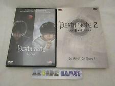 LOT 2 DVD DEATH NOTE LE FILM + DEATH NOTE 2 (vendeur pro)