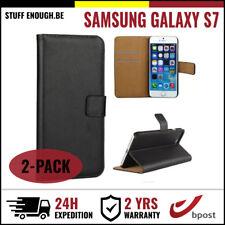 2IN1 Wallet Flip Case Cover Cas Coque Etui Hoesje Black For Samsung Galaxy S7