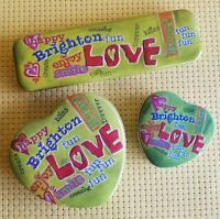 """BRIGHTON Tins Set of 3 LOVE 9.5"""" Watch Jewelry Hearts 6"""" and 3.5"""" Green Gift Box"""
