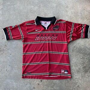 vintage 90s nike dallas burn soccer futbol MLS jersey Large red