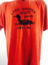 Vintage Lake Shetak Shirt MN Red Duck 50/50 Boho Rocker Punk 70s 80s  90s