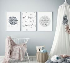 Grey Stars & Spots (Set of 3) - Nursery Prints - Baby Room - Wall Art - Kids
