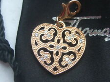 New Thomas Sabo rose gold plated silver zirconia arabesque heart charm RRP £68