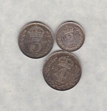 More details for 1920 george v silver 3 coin part maundy set fourpence, threepence & twopence