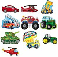 Assorted Vehicle Shaped Giant SuperShape Foil Balloon Birthday Party Decoration