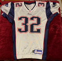 2005 NFL Team Issued New England Patriots Silver Jersey Size 46 Rare Reebok #32