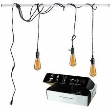 Vintage Pendant Light Kit Plug in Hanging Lighting Fixture 24.5FT Cord Set,