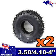 "2x 3.50/ 4.10- 4"" Inch  Tyre Tire + TUBES 49cc ATV QUAD Bike Gokart Buggy"