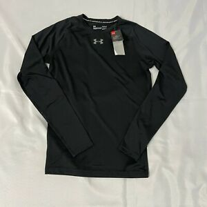 Under Armour Men's UA HeatGear Compression Long Sleeve Shirt Black Activewear