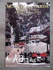 Albert BRENET Affiche Musée de la marine Paris 1991 HARFLEUR TEMPLE JAPON CHINE