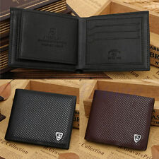 Men's Faux Leather Bifold Wallet Clutch ID Card Credit Holder Money Clip Purse
